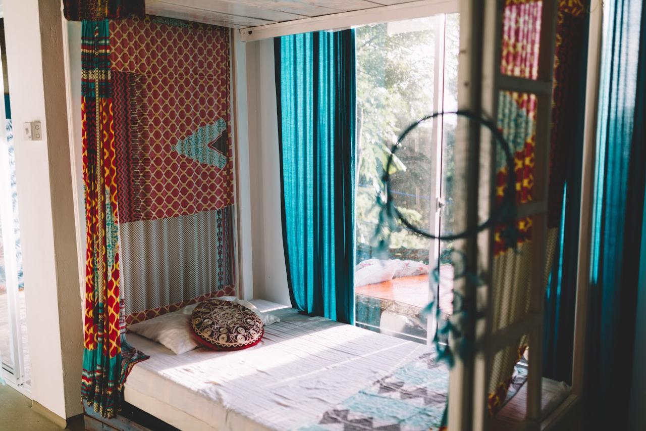 lanka living surf camp dorm bed