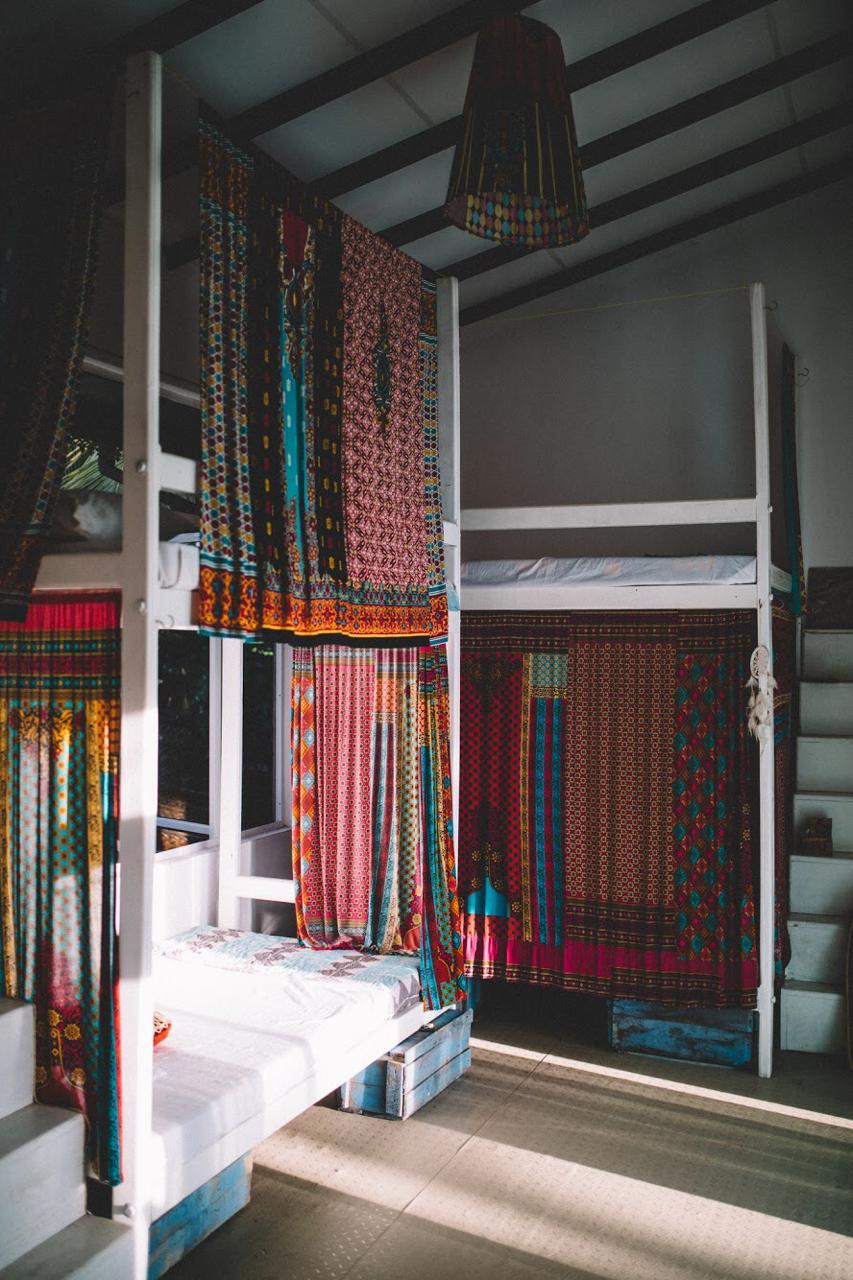 lanka living surf camp dorm beds